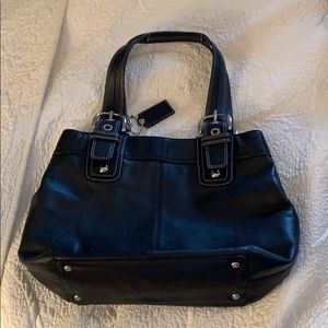 Coach bag with silver hardware